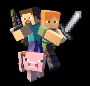 Des chevaliers sur le jeu Minecraft